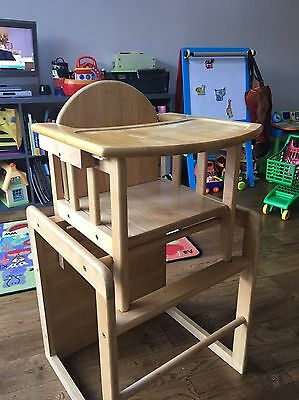 High Chair / Children's Table And Chair
