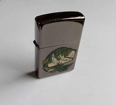 Vintage Zippo Lighter – Bass Fish on Front