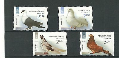 2014 Ukraine -  Domesticated Pigeon Breeds Unmounted Mint Set