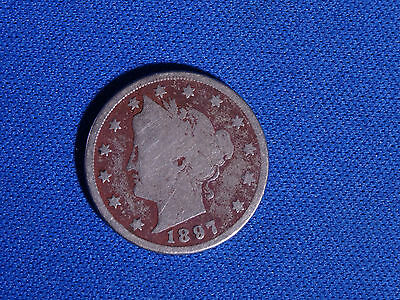 1897 Liberty Head V Nickel, US 5 Cents