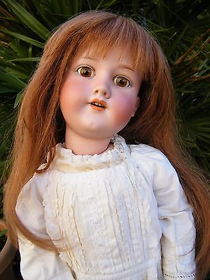 Antique Pretty Armand Marseille with Lovely Real Hair Red Wig