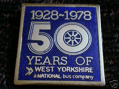 A Vintage West Yorkshire Road Car Co Ltd Golden Anniversary Enamel Pin Badge