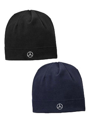 Oem Genuine Mercedes Benz Fleece Beanie Hat Cap Black Or Navy