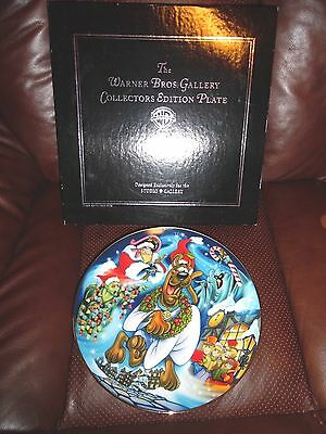 Scooby's Christmas Dream Warner Brother Gallery Collectors Plate New in the Box