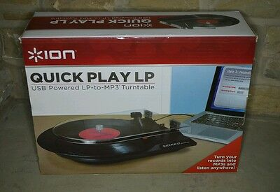 ION QUICK PLAY LP Turntable record to mp3 record player