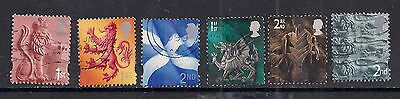 GB 1999 - 2002 QE2 1st & 2nd 6 x Various regional stamps. ( A167 )