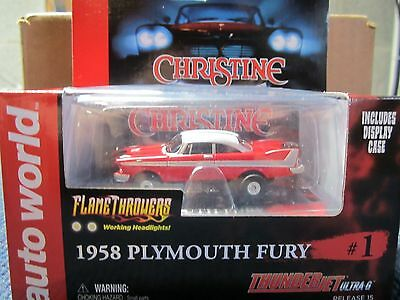 Autoworld Christine 1958 Plymouth Fury Flamethrowers Slot Car Working Headlights