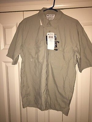 Mens COLUMBIA Challenger S/s Camp Shirt   Size Small Bnwt