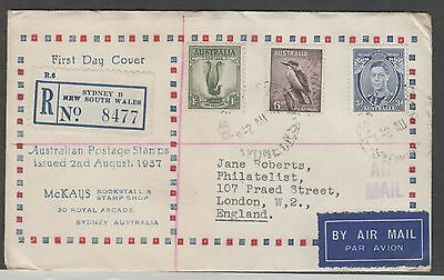Australia, 1937 First Day Cover