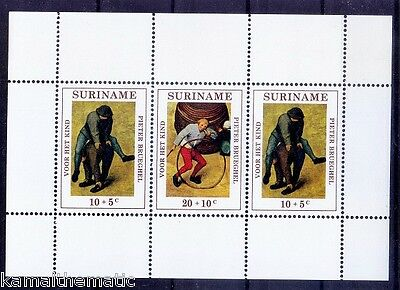 Suriname Colony 1971 MNH SS, Children Games, Welfare Surcharge  -  Ga27