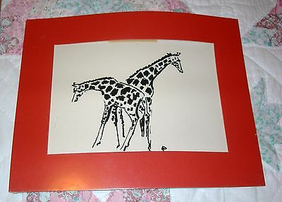 Margaret Curtis Print?   Giraffes - Not Signed But Was With Others.