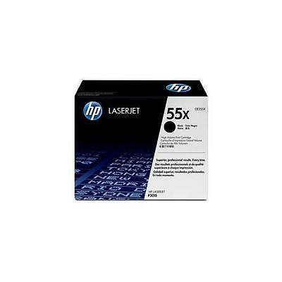 Genuine Original HP CE255X High Capacity Black Toner - 55X