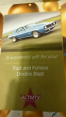 fast and furious double blast car experience day!! awesome present