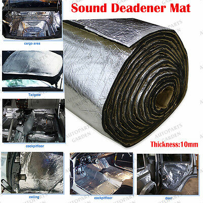11Sqft 394mil Car Door Hood Engine Trunk Heat Noise Sound Deadener Insulation*