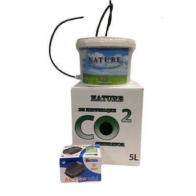 Nature  CO2 Generator/Booster Container/Bucket 5L With Air Pump HYDROPONICS