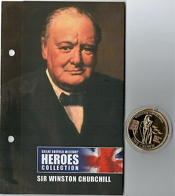 Great British Military Heroes  - Sir Winston Churchil Golden Crown + Coa