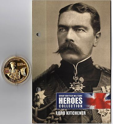 Great British Military Heroes Collection 'lord Kitchener' Golden Crown + Coa