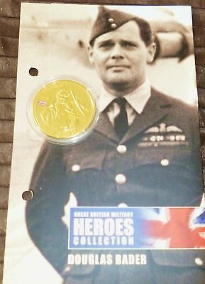 Great British Military Heroes Collection - Sir Douglas Bader Golden Crown + Coa
