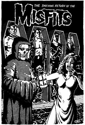 MULTIPLE SIZES #02 THE MISFITS Poster Rock Group Album Cover Photo