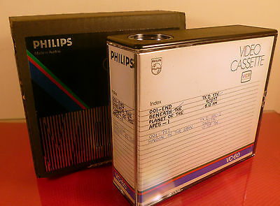 PHILIPS VCR SYSTEM: VC60 VIDEO TAPE CASSETTE: 1970s TAPE