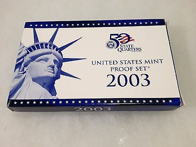 2003 United States US Mint 10pc Clad Proof Set with COA