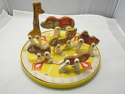 Fisher Price Vintage Antique Circus Ring Play Set Menagerie Circus Ring