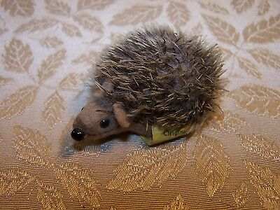 "Vintage Steiff Miniature 2.5"" Stuffed Hedgehog Porcupine 1670/06 Germany"