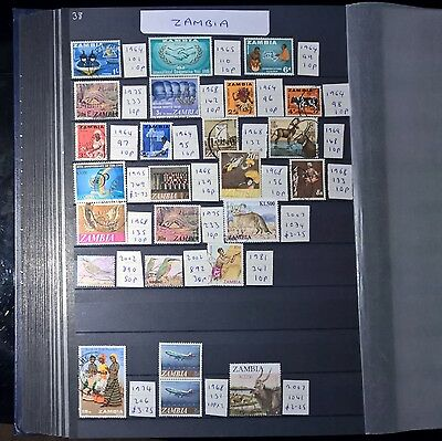 ZAMBIA Mixed Selected Stamps (No 1250)