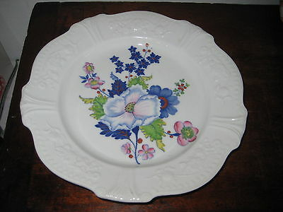 Early Ridgway Plate Flowers Leaves Charming Border Design