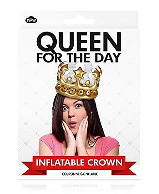 Novelty Girls Queen for the Day Inflatable Crown Birthday Gift/ Accessory