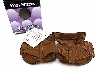 Dance Class By Trimfoot Company Foot Mitten Brown Size S NWT