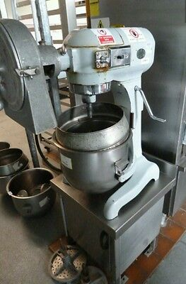 Hobart A200 240V 20qt Dough Mixer with S/Steel Bowls, Paddle, Whisk,Mincer, Hook