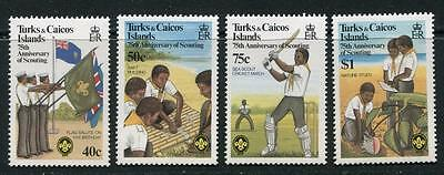 Turks & Caicos: 1982 75th Anniv of Boy Scout Movement set SG690-3 MNH JJ235