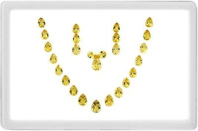 70.17 Ct **necklace** Dazzling Yellow 100% Natural Heliodor Beryl Rare Pear Set