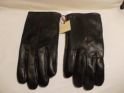 NEW DENTS MEN'S BLACK LEATHER GLOVES Size XL