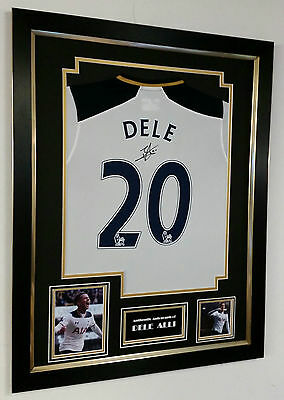 ** New Dele Alli of Tottenham Signed Shirt Autograph Display ***