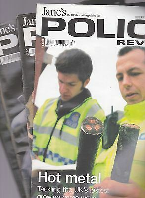 x4 JANE'S POLICE REVIEW JOURNAL - From 2008 x4
