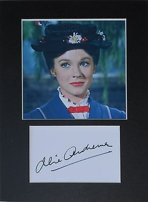 Julie Andrews Mary poppins signed mounted autograph 8x6 photo print display #1