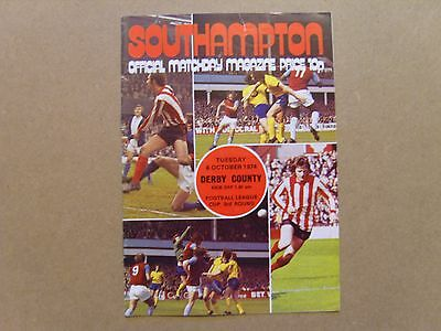 1974/75  SOUTHAMPTON v DERBY COUNTY   LEAGUE CUP 3rd Rd  08/10/74