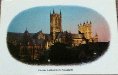 Postcard Of Lincoln Cathedral By Floodlight