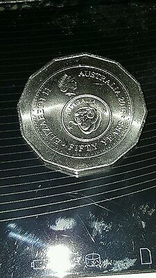 "2016 50c Fifty Cent Coin ""50th Anniversary of Decimal Currency, from mint bag"