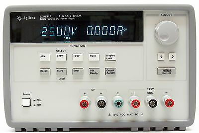 HP Agilent E3631A Power Supply 80Watt 25/6V 1/5A GPIB triple output Certificated