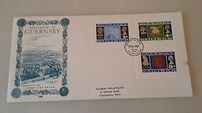 Guernsey Stamps FDC 1969 Definative booklet stamps FDC