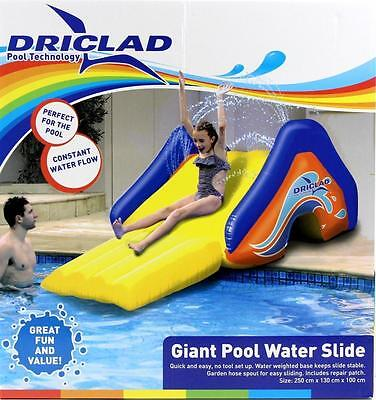 Driclad Giant Pool Water Inflatable Pool Slide with Water Spray | Swimming, Kids