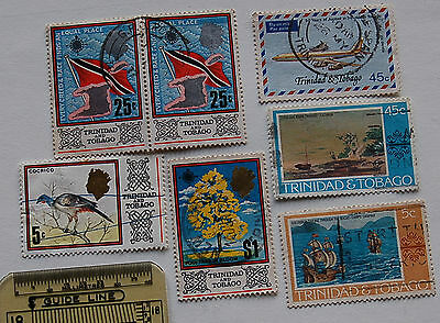 Mixed lot of 7 Stamps From Trinidad & Tobago (lot 93)