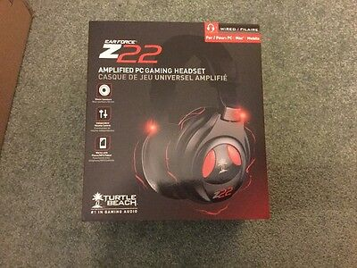 Turtle Beach Ear Force Z22 Amplified Gaming Headset - New & Sealed