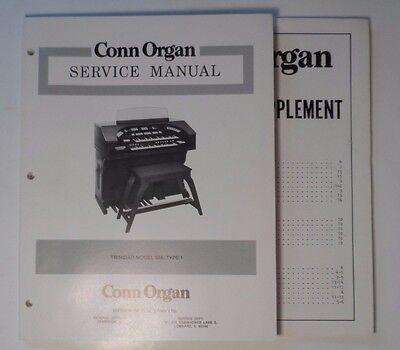 Conn Service Manual - Trinidad 554 and Schematic Supplement