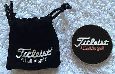 Titleist Golf Ball Marker And Pouch Limited Edition !! Free P&p !!