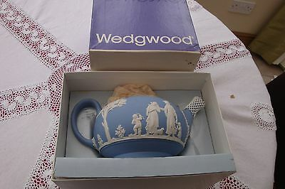 Wedgwood blue jasper tea pot