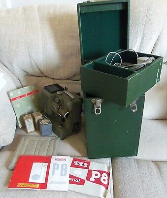 EUMIG P8 IMPERIAL 8mm CINE PROJECTOR BOXED COMPLETE EXTRA BULBS INSTRUCTIONS